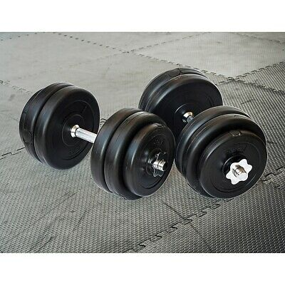 30KG Dumbbell Set Weight Dumbbells Plates Home Gym Fitness Exercise
