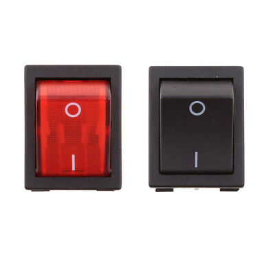 DPST Type 4Pin 2Position ON/OFF Boat Rocker Switch with Indicator Light 2PCS