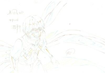 Anime Genga not Cel Tokyo Ghoul 3 pages #3