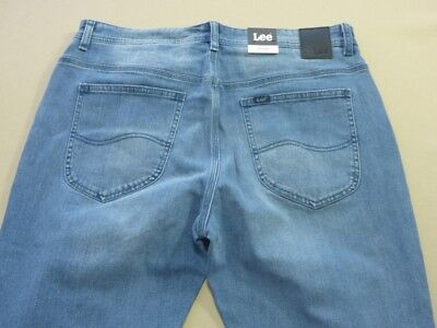 088 Mens Ex-Cond Lee Z2 Hunter Slim Local Blue Stretch Jeans Sze 36 Reg $160 Rrp