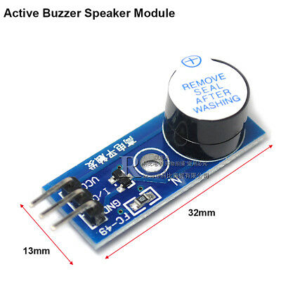 3 Pin Active Buzzer Speaker Module PCB Board 3.3V-5V High Level Trigger Module
