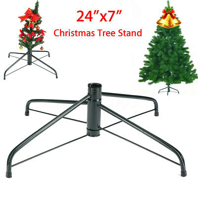 Artificial Christmas Tree Stand Green Holder Base Iron Stand Holiday Yard Decor