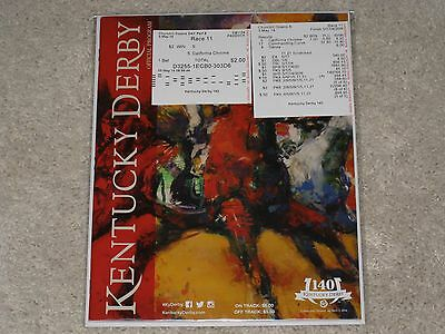 2014--140th Kentucky Derby Program (California Chrome ) & $2.00 Win and Results