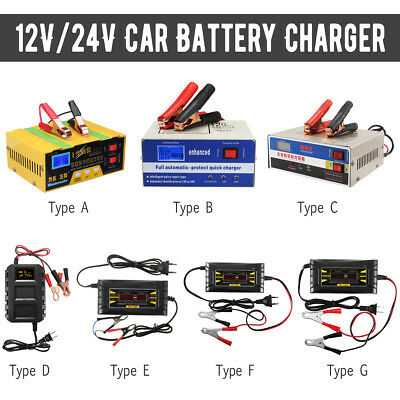 12V/24V Auto Motorcycle Car Battery Charger Pulse Repair Lead Acid Power Bank