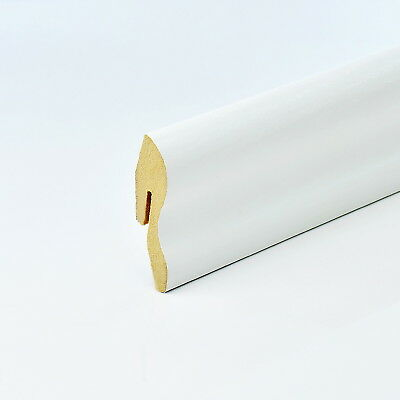 2.5m CLASSIC MDF SKIRTING BOARD 22x40mm white corner end-piece cover floor wall