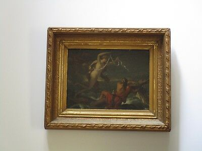 19Th Century Old Master Painting Siren Biblical Iconic Religious Antique Signed?