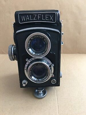 Walzflex 6x6 medium format camera 1:3.5 F 7.5cm Kaminor lens 1955 Good Condition