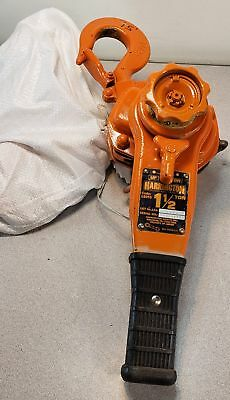 98266 Harrington L5A-0244 LB015 1-1/2 Ton Lever Chain Hoist w/ 15' Lift