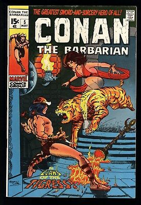 Conan The Barbarian (1970) #5 1st Print Claws Of The Tigress Barry Smith C/A VG+