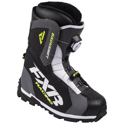 FXR - Backshift BOA Charcoal/White/Hi-Vis Adult Boots - 12