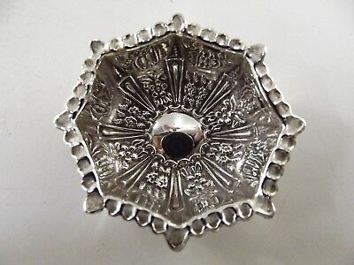 Stunning Small Antique Silver Dish With Embossed Pattern Birmingham 1900 R110/10