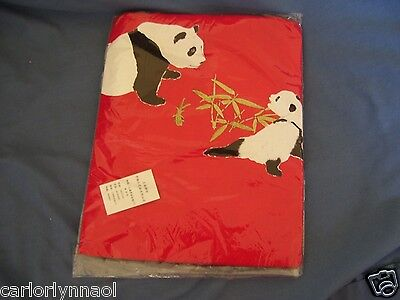 NEW! NWT w/Tags! T-SHIRT CHINA PANDA Pandas Bears Bamboo RED XL Factory Sealed!