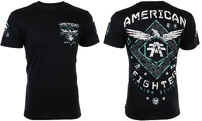 AMERICAN FIGHTER Mens T-Shirt ABRAHAM Eagle BLACK Athletic Biker Gym MMA UFC $40