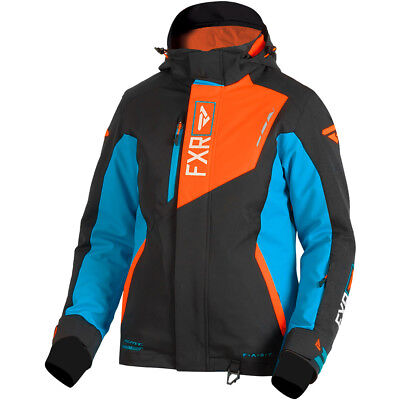 FXR - Renegade Black/Aqua/Electric Tangerine Women Jacket - 12