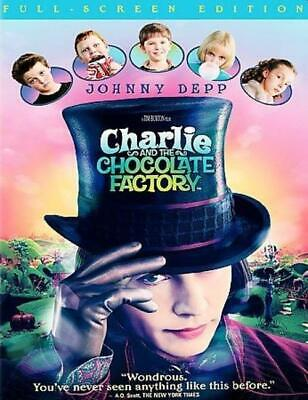 Charlie and the Chocolate Factory (DVD, 2005, Full Frame) NEW