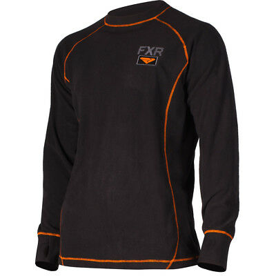 FXR - Pyro Thermal Black/Orange Men Long Sleeves Top - Small