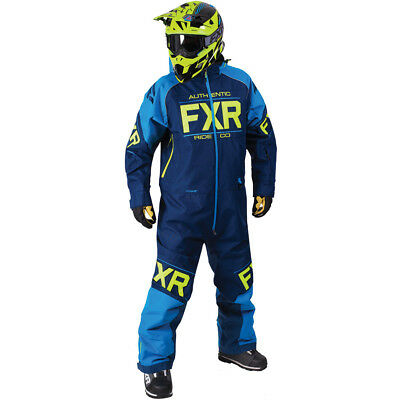 FXR - Clutch Navy/Blue/Hi-Vis Men Monosuit - 2X-Large