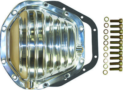 Dana 60 10 Bolt Rear Finned Polished Aluminium Differential Cover  Ford Dodge