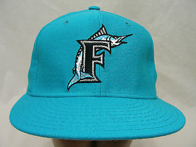 Florida Marlins - Mlb - Retro - Wool - Fitted Size 7 - Ball Cap Hat! (Miami)