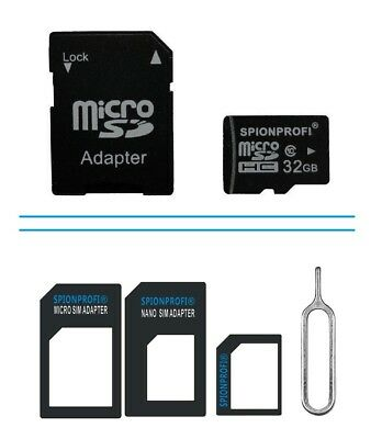 32Gb Micro Sd Speicherkarte Class 10 + Sd Kartenadapter Oder Sim Adapter Handy