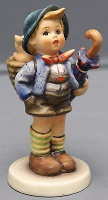 Vintage Hummel Goebel Figurine 198/I Home From Market Boy Umbrella TMK6 5.25""