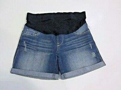 Oh Baby by Motherhood Maternity Denim Blue Jean Shorts Size S Distressed Ret $40
