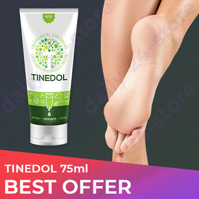 TINEDOL Cream NATURAL for Skin Legs Against Nail Fungus and Smell 75ml ORIGINAL