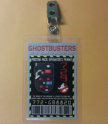 Ghostbusters ID Badge - Proton Pack Operator's Permit
