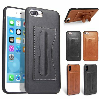 Genuine Leather Ultra Slim Stand Back Case Cover For iPhone X iPhone 8 / 8 Plus
