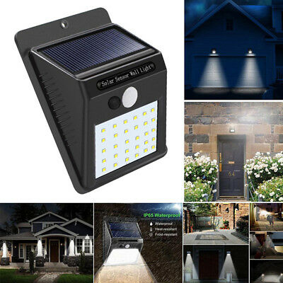 30Led Solar Power Light Pir Motion Sensor Garden Security Yard Landscape Lamp JJ