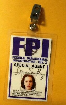 X-Files Tv Serien Id Badge-Dana Scully Kostüm Requisite Cosplay