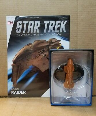 Star Trek Eaglemoss Starship Kazon Raider & Zeitschrift 106