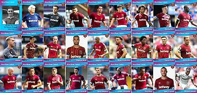 West Ham United FC Football Squad Trading Cards 2018-19