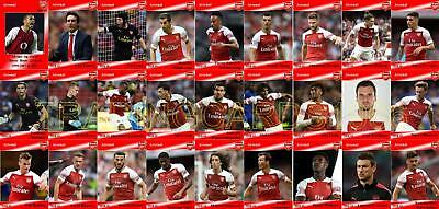 Arsenal Football Squad Trading Cards 2018-19