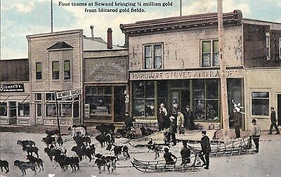 t miscellaneous early old antique postcard seward gold from iditarod gold fields