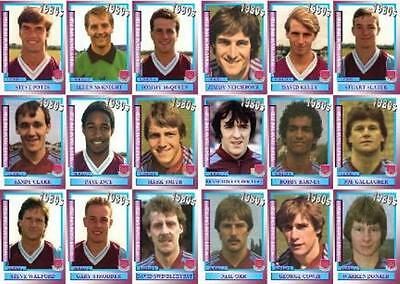 West Ham United 1980's series 2 vintage style Football Trading cards - Decades
