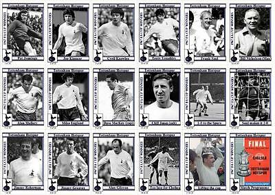 Tottenham Hotspur 1967 FA Cup winners football trading cards