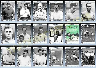 Everton 1933 FA Cup final winners football trading cards