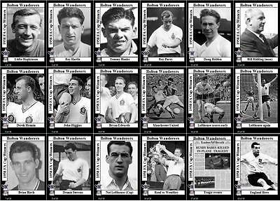 Bolton Wanderers 1958 FA Cup final winners football trading cards