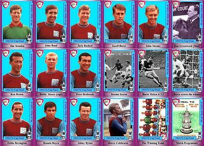 West Ham United 1964 FA Cup final winners football trading cards Bobby Moore