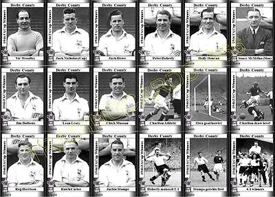 Derby County 1946 FA Cup final winners football trading cards