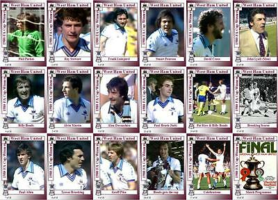 West Ham United 1980 FA Cup final winners football trading cards