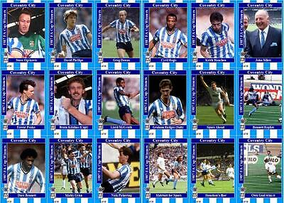 Coventry City 1987 FA Cup winners football trading cards