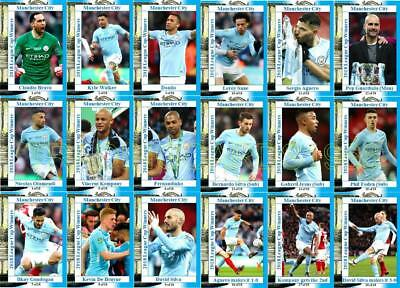 Manchester City 2018 Football League Cup final winners trading cards Carabao Cup
