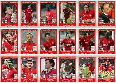 Liverpool European Champions League winners 2005 football trading cards