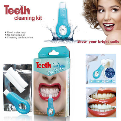 1SET Pro Nano Teeth Whitening Kit Teeth Cleaning Whitener Brush Tooth Stains A++