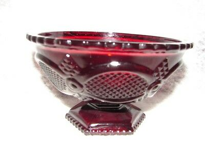 Vintage Cape Cod Red Avon Open Candy Dish - Bowl ~ Red Glass Candy Dish