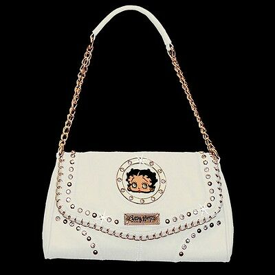 Betty Boop Rhinestone Dress Bag by Sharon Purse Handbag White KF-4009