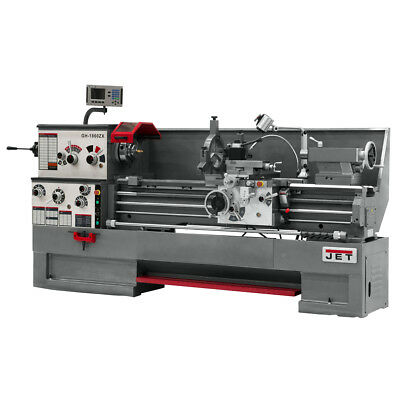 JET GH-1660ZX Large Spindle Bore Lathe w/ ACU-RITE 300S Taper & Collet Closer