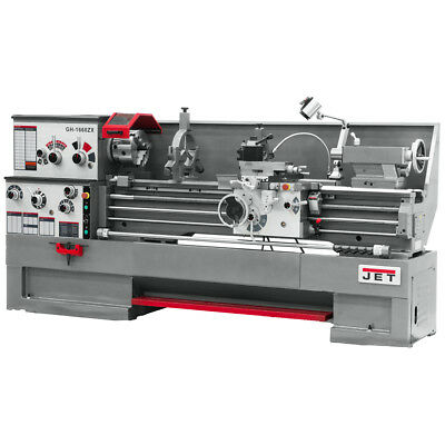 JET GH-1860ZX Large Spindle Bore Lathe With Newall DP700 DRO & Taper Attachment